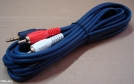 3,5 jack - 2 RCA kábel, 3m