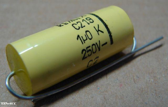 1uF, 250V, kondenzátor