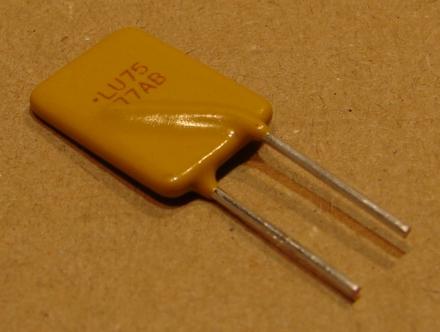 750mA, PTC öngyógyuló biztosíték