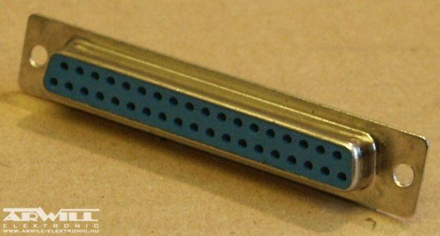 D-sub csatlakozó aljzat, 37p.