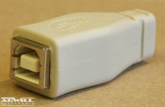 USB B aljzat