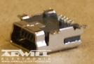 USB B mini 5 pólusú aljzat