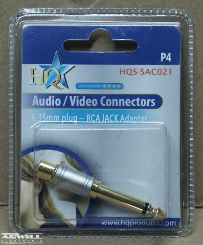 6,3 jack/RCA, átalakító