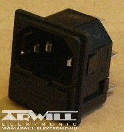 AC fix apa aljzat + biztosíték foglalat