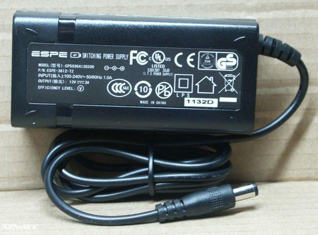 12V, 3A, adapter