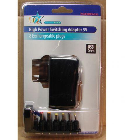 5V USB, 2,5A, adapter