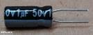 1uF, 50V, elektrolit kondenzátor