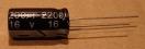 2200uF, 16V, elektrolit kondenzátor