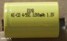 4/5 SUB C, forrasztható akkumulátor