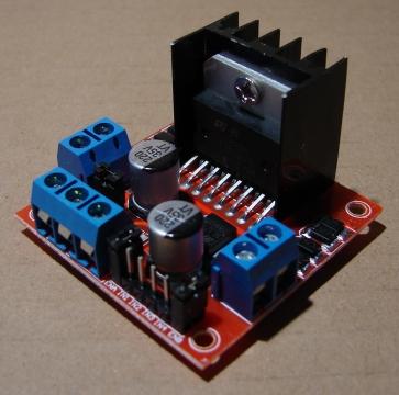 L298N, motor vezérlő modul