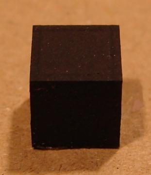 Gumi készülékláb, 6x6mm