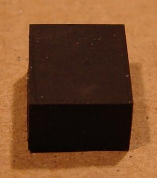 Gumi készülékláb, 8x10mm