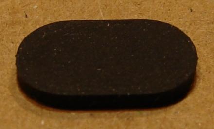 Gumi készülékláb, 10x6mm