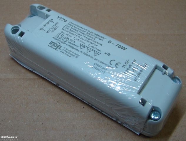 11,5V AC, 0-70W, transzformátor