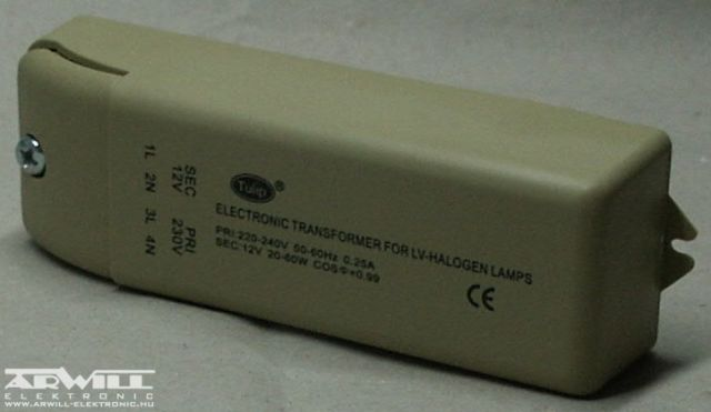 12V AC, 20-60W, transzformátor