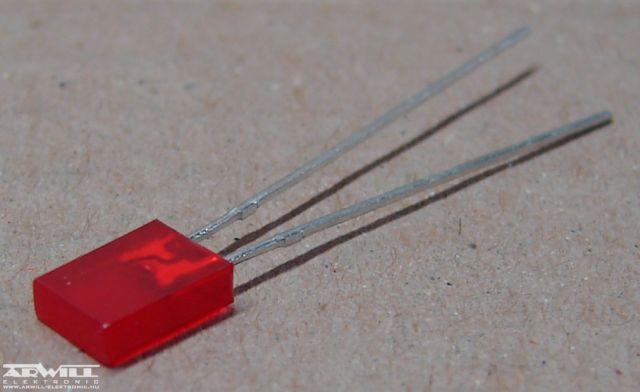 LL254-ID1E, 2x5mm piros led