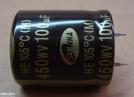 100uF, 450V, elektrolit kondenzátor
