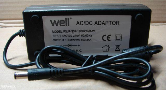 12V, 4A, adapter