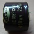220uF, 450V, elektrolit kondenzátor