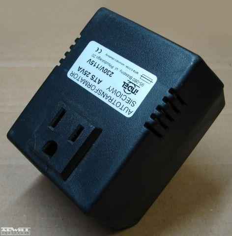 230V/115V, 25VA, adapter