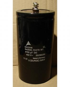 4700uF, 450V LONG LIFE, elektrolit kondenzátor