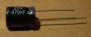 470uF, 25V, elektrolit kondenzátor