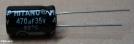 470uF, 35V, elektrolit kondenzátor