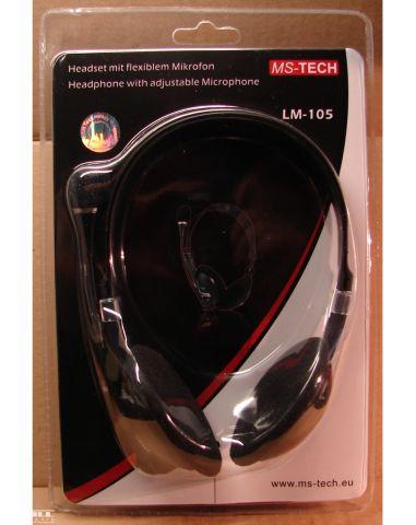 LM-105, mikrofonos fejhallgató