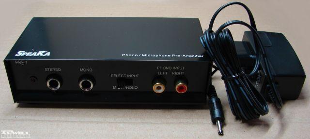 PRE-1, lemezjátszó/mikrofon előerősítő