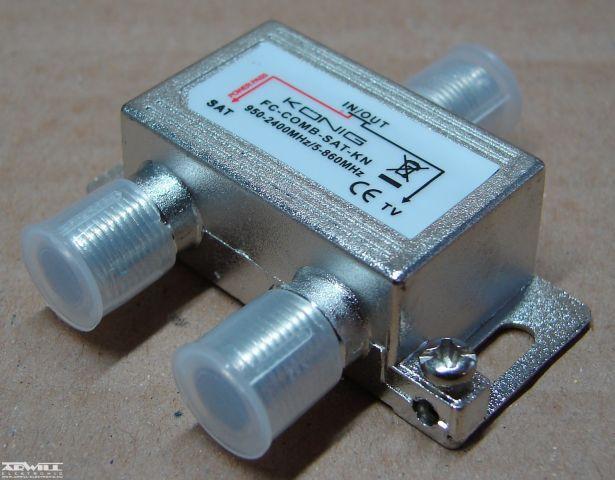 SAT/antenna közösítő szűrő