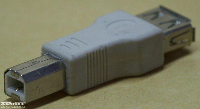 USB A/B átalakító