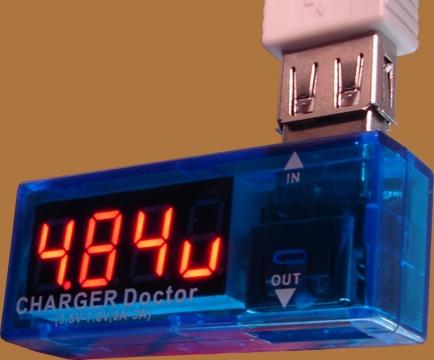 USB feszültség/áram mérő