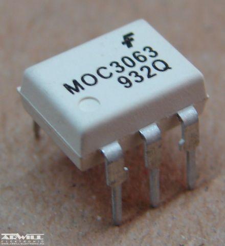 MOC3063, optocsatoló