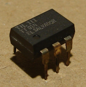 TIL111, = 4N25 optocsatoló