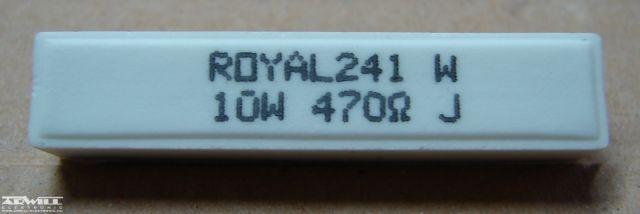 470R, ellenállás