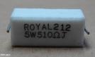 510R, ellenállás