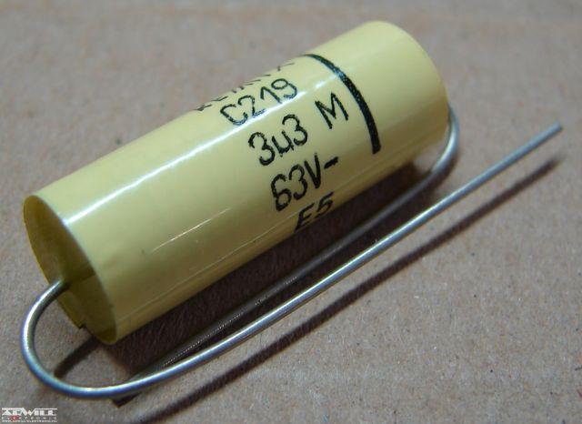 3,3uF, 63V, kondenzátor