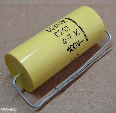 4,7uF, 100V, kondenzátor