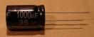 1000uF, 35V, elektrolit kondenzátor