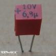 6,8uF, 10V, tantál kondenzátor