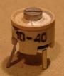 10-40pF, trimmer kondenzátor