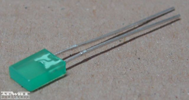 LL254-GD1E, 2x5mm zöld led
