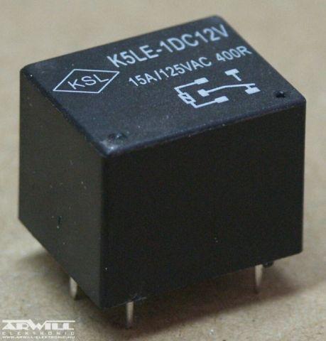 K5LE-1 relé, 12V, 15A