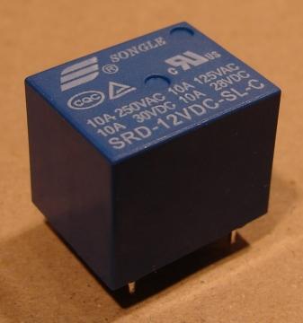 SRD-12VDC-SL-C relé, 12V, 10A