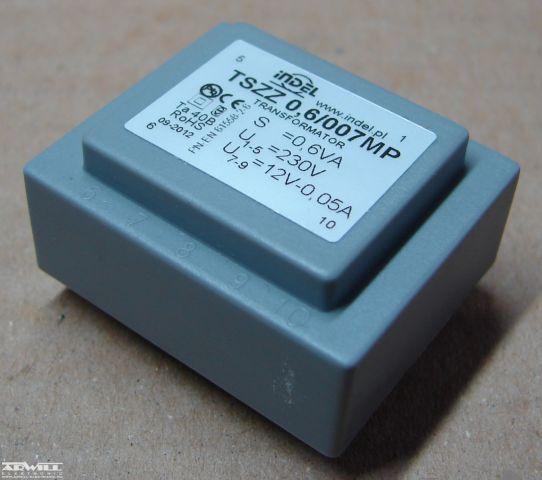 0,6VA, 1x12V, transzformátor