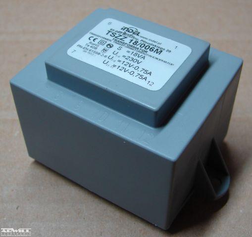18VA, 2x12V, transzformátor