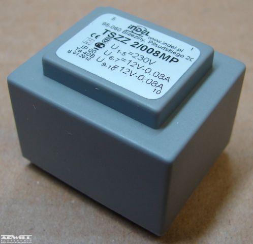 2VA, 2x12V, transzformátor