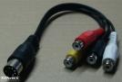 5 pólusú DIN - 4 RCA kábel, 0,2m
