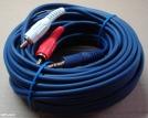 3,5 jack - 2 RCA kábel, 10m