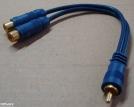 RCA elosztó kábel, 0,1m